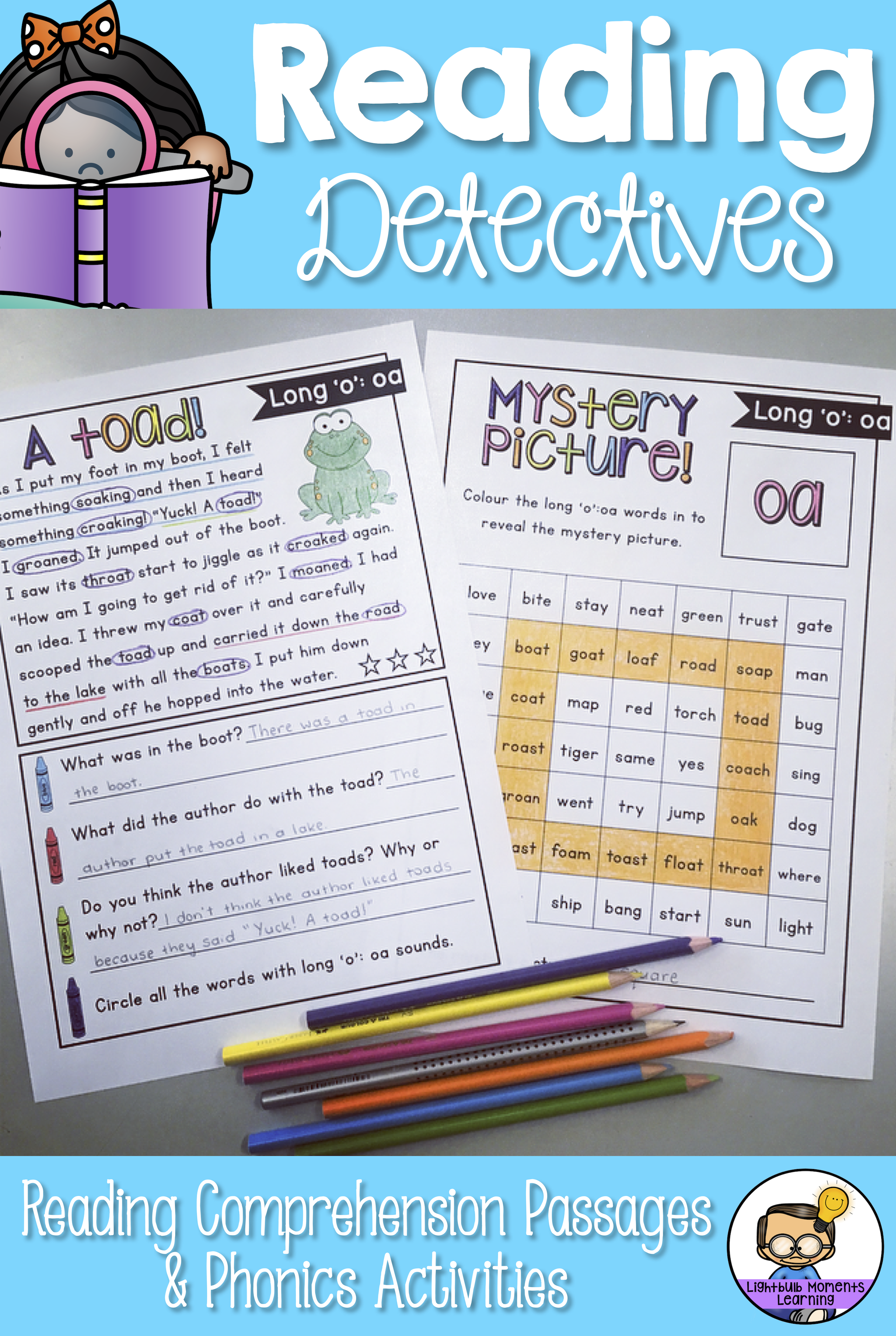 Reading Comprehension Passages And Questions With Phonics Activities