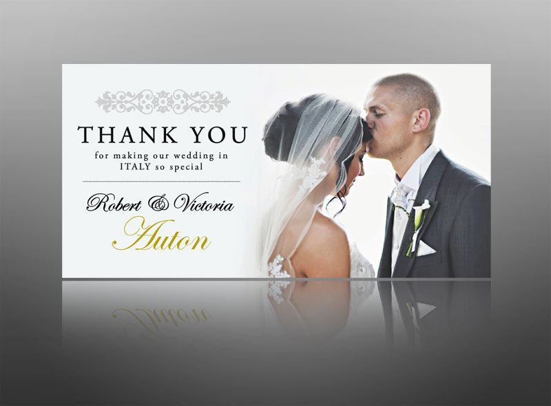 17 Best images about Thank you cards invites – Thank You Card for Wedding