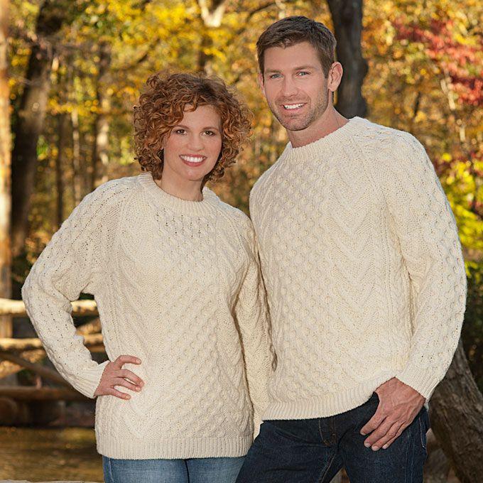 Merino Wool Aran Sweater - Baínín - Shop Irish