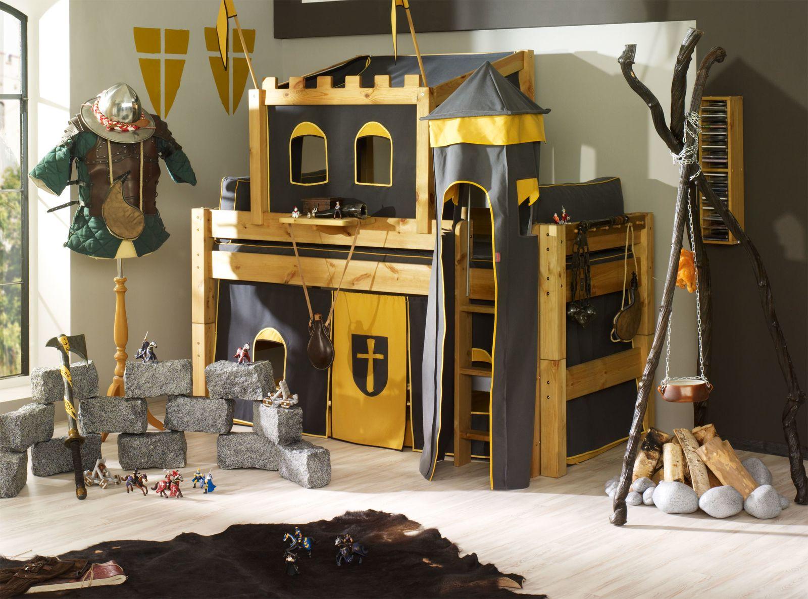 Hochbett Ritterburg Mit Turm Halbhochbett Moby In 2020 Kinder