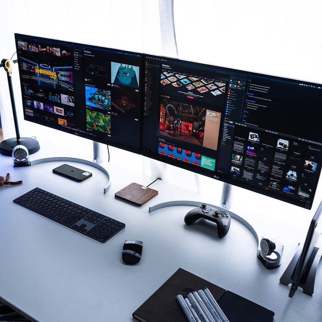"- Minimal Setup Desk Inspiration On Instagram: ""Two Monitors Vs One"