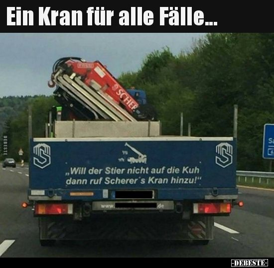Ein Kran für alle Fälle... | Lustige Bilder, Sprüche, Witze, echt lustig #fallmemes