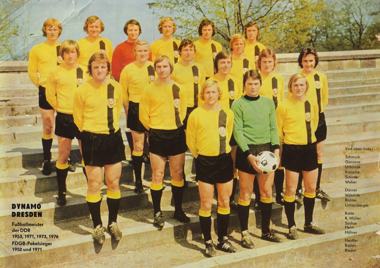 Dynamo Dresden Of East Germany Team Group In 1976 Retro Football Germany Team Soccer Team