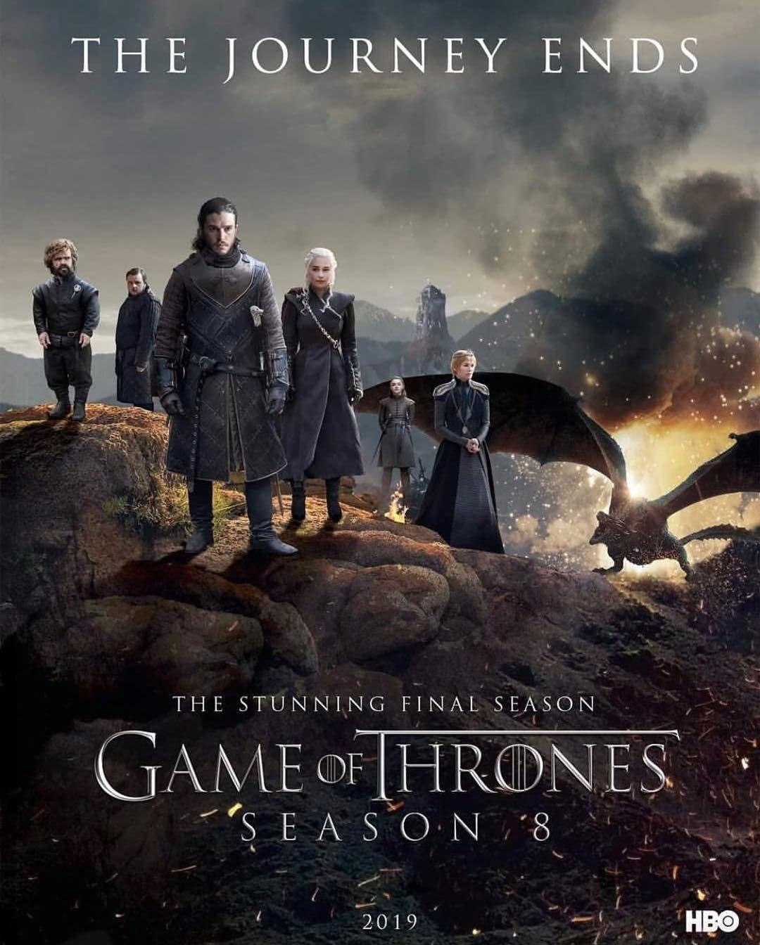 Game Of Thrones Gameofthronesnotofficial En Instagram Season 8 Fan Poster The Journey Watch Game Of Thrones Game Of Thrones Poster Game Of Thrones Online