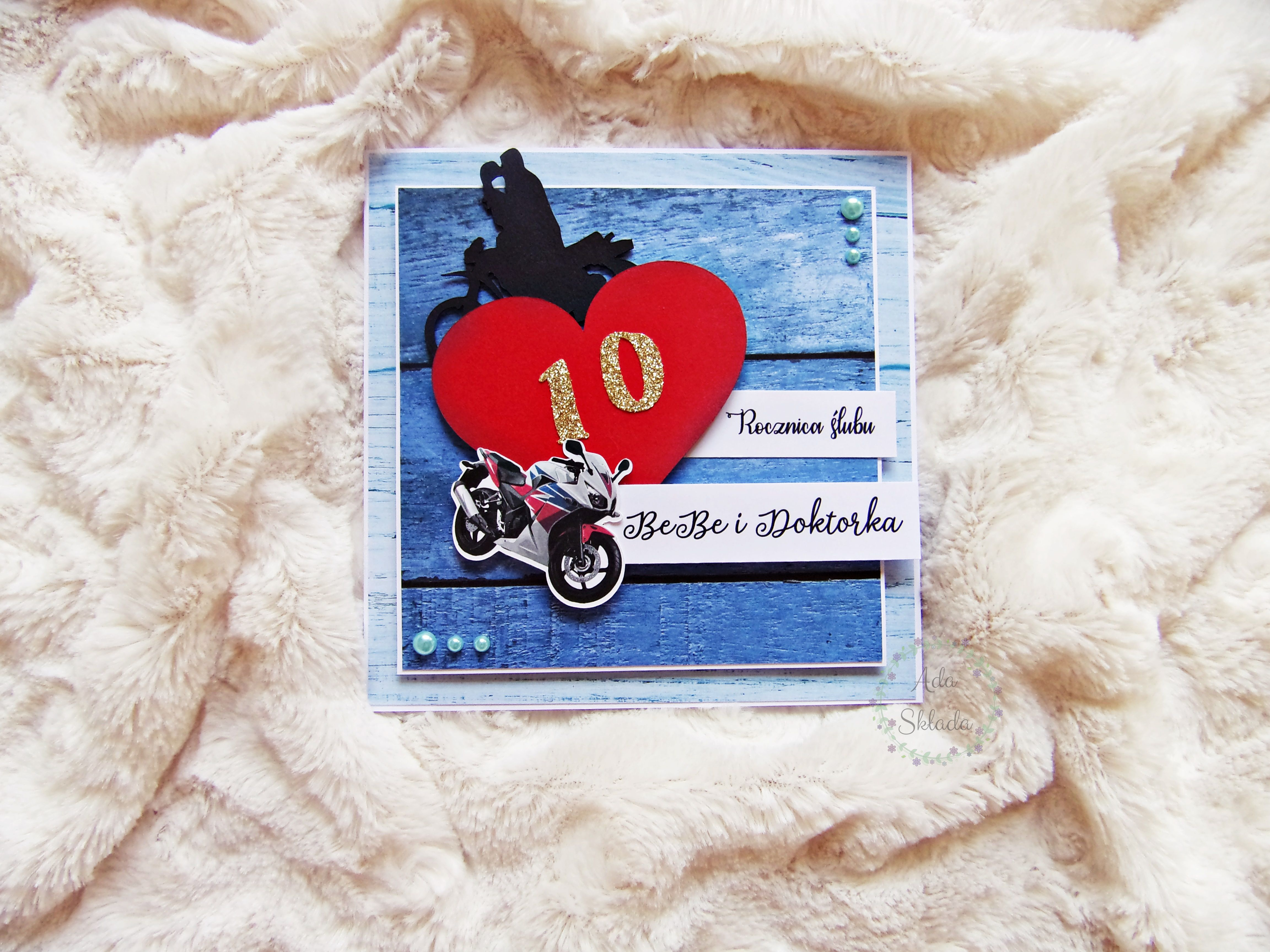Kartka Na 10 Rocznice Slubu 10th Wedding Anniversary Card With