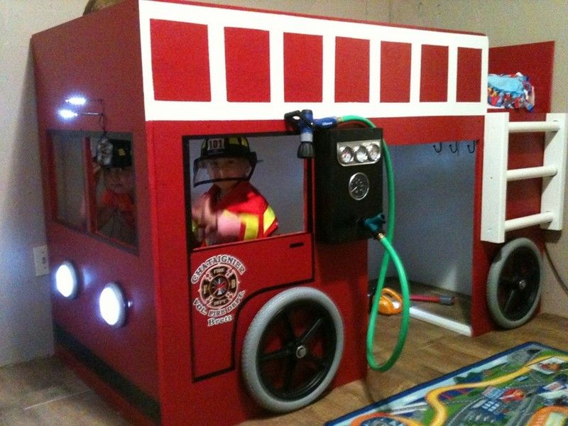 15 Racing Car Beds For Children Room | Bunk bed and Fire trucks