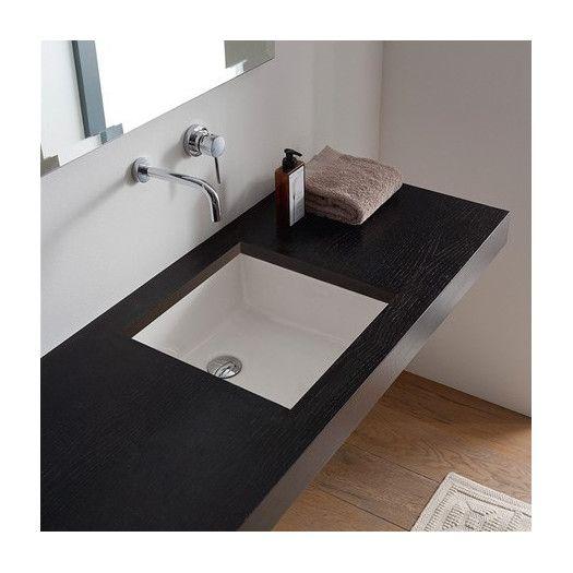 Miky Ceramic Square Undermount Bathroom Sink Undermount Bathroom