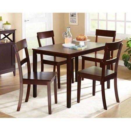 Beverly 5 Piece Dining Set Multiple Finishes Walmart Com Dinning Room Tables Dining Furniture Sets Kitchen Dining Sets