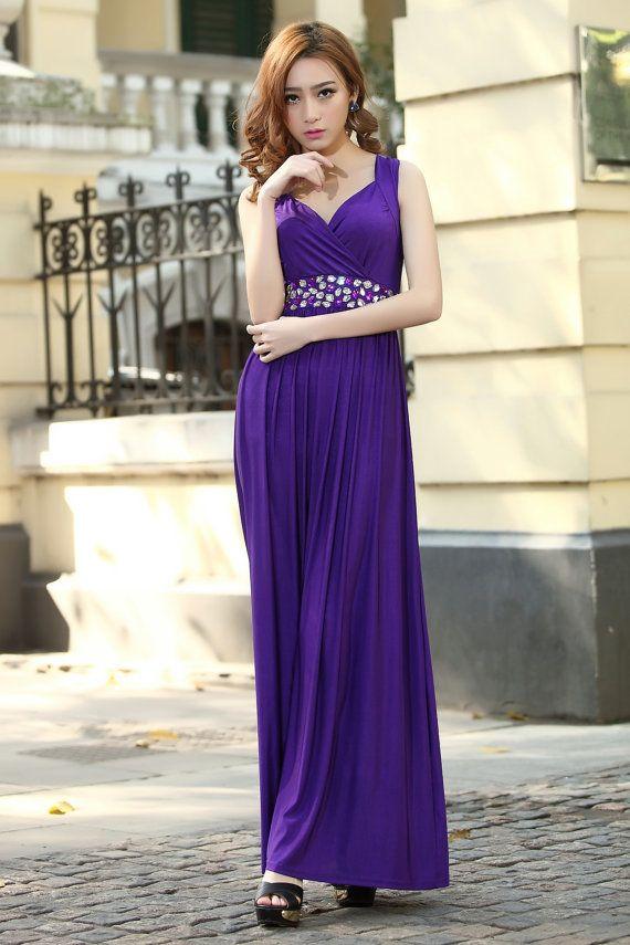 Cadbury Purple Bridesmaid Dress Formal Cocktail Bead Prom Party ...
