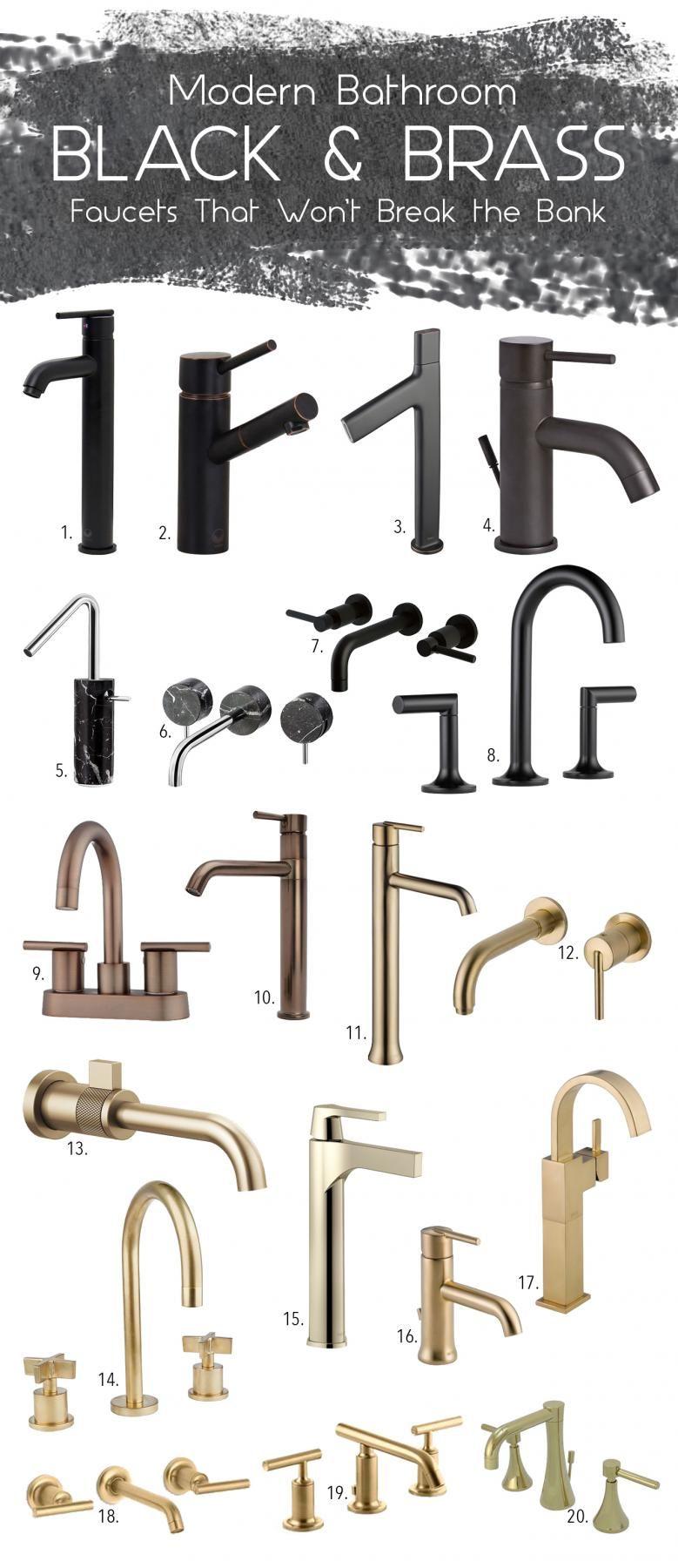Badezimmer ideen schwarz und gold black u brass kitchen faucet mood board via simply grove  bad in