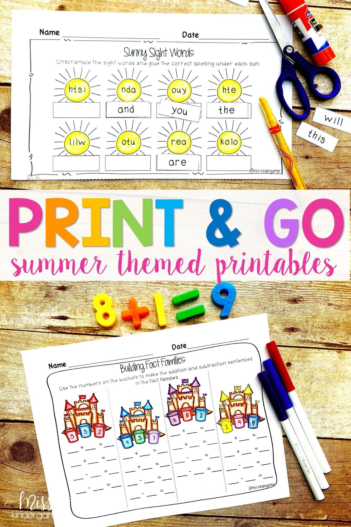 Summer Packet Print And Go Printables For Summer