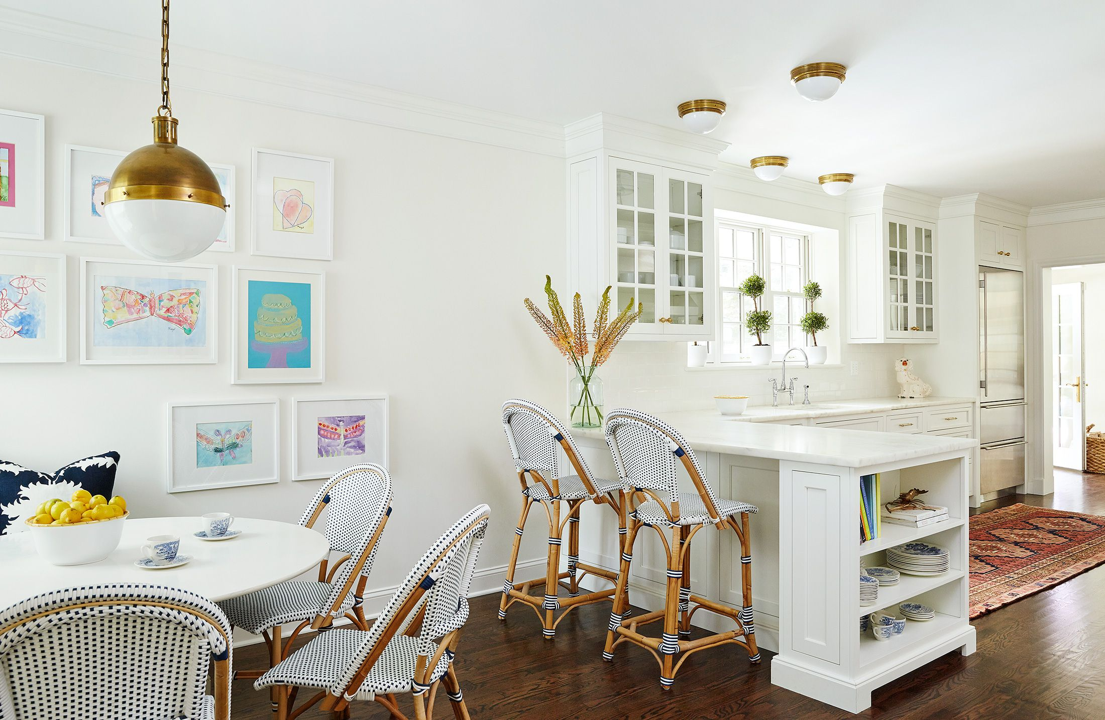Kitchen Peninsula with End Shelves, Transitional, Kitchen, Amie Corley  Interiors