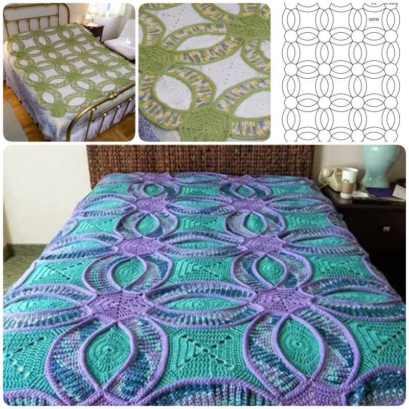 How to Crochet Wedding Ring Quilt | Decken, Dekorationen für zu ...