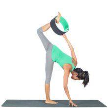 7 yoga poses with yoga wheel  yoga for beginners yoga