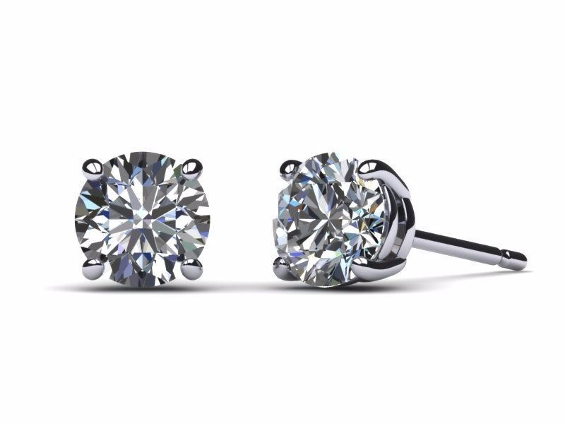 4 Carat Certified D SI1 Round Cut Natural Diamond Stud Earrings 14K White Gold https://t.co/Dq5eKb1E9v https://t.co/wnAwEd9OI6