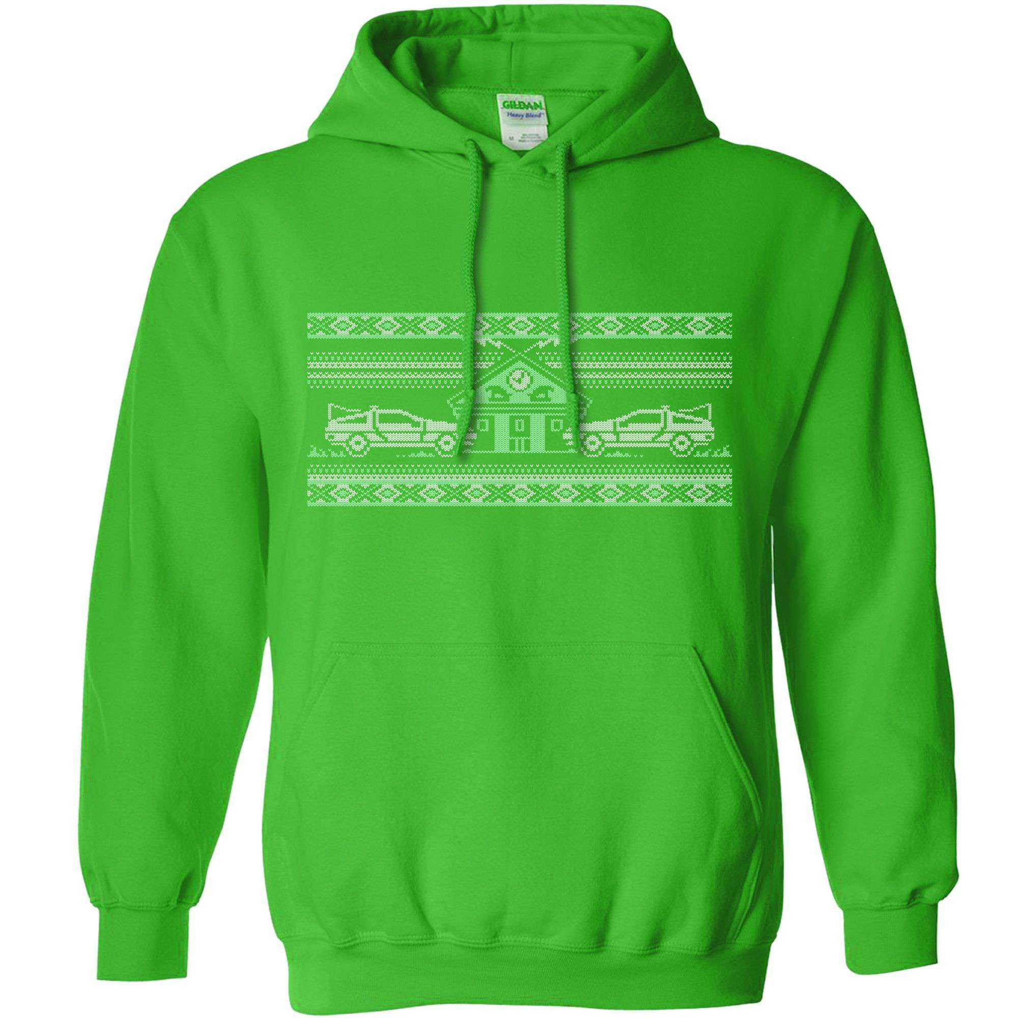 Knitted Jumper Style Hoodie - Bttf - Kelly Green / Medium