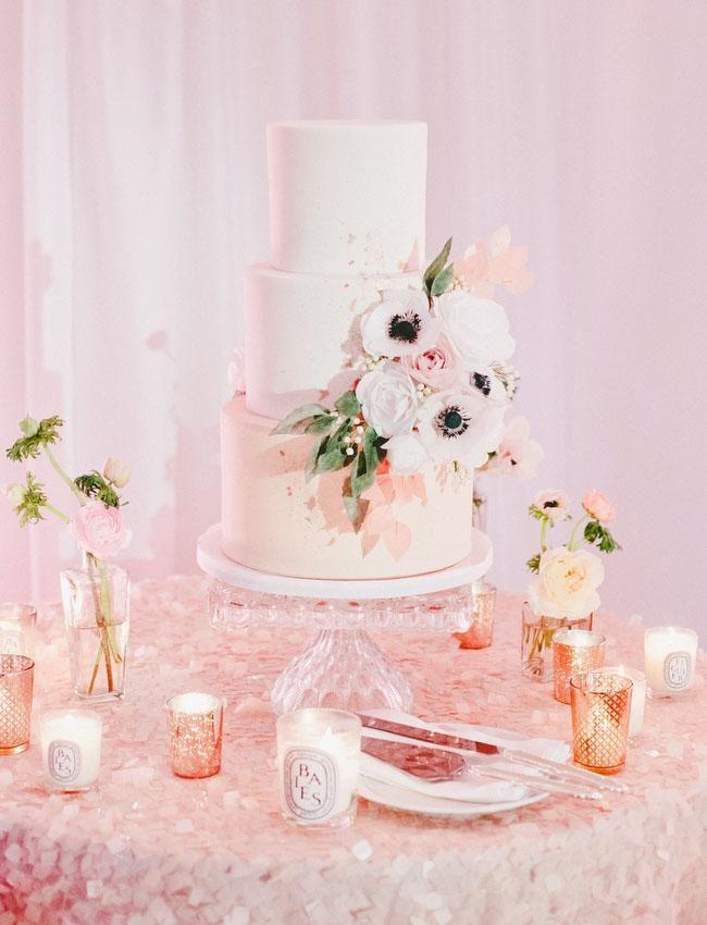 Elegant Rose Gold Wedding Patricia Christopher Perfect Pastel