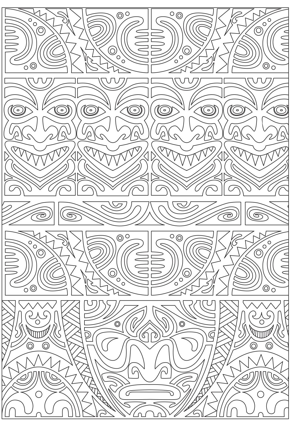 Inca Inspired Coloring Page Patterns Coloring Pages Pinterest