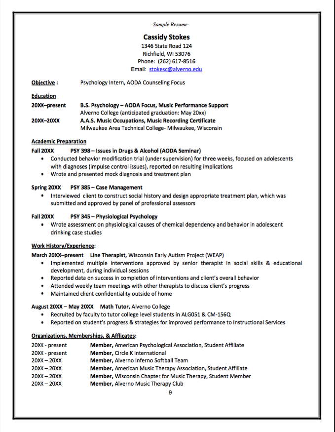pin di example resume cv