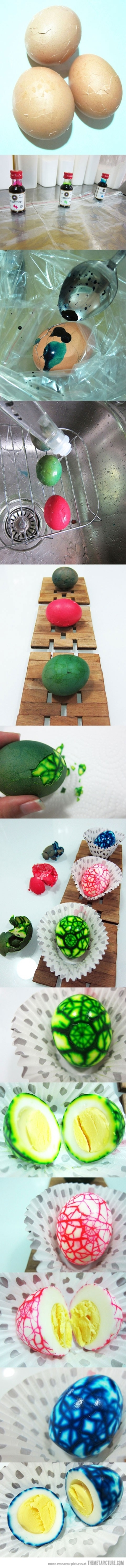 Coloured eggs 4 KIDS dino party... use natural food coloring like ...