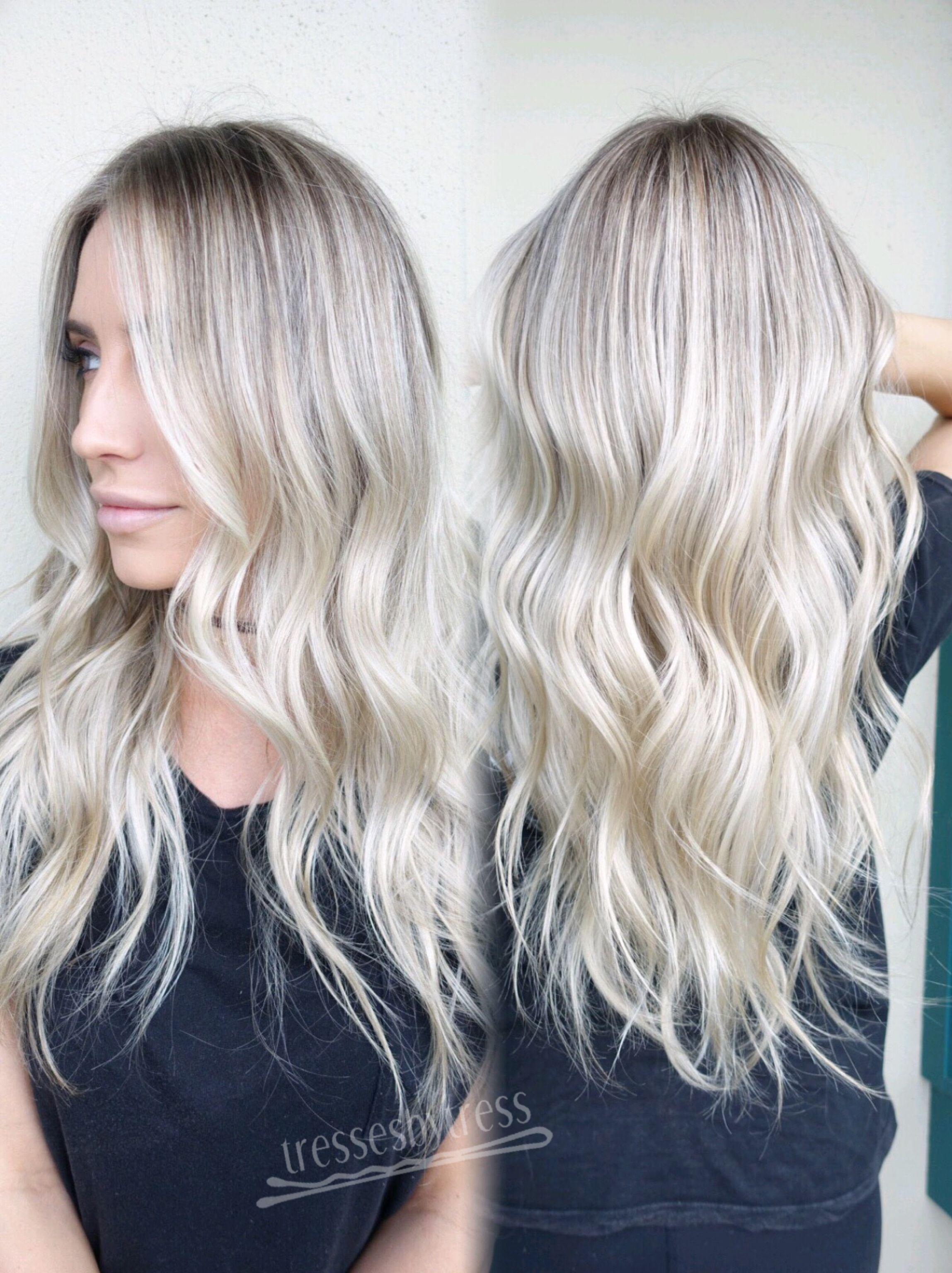 Platinum White Blonde Balayage Hair In 2019 Balayage Hair