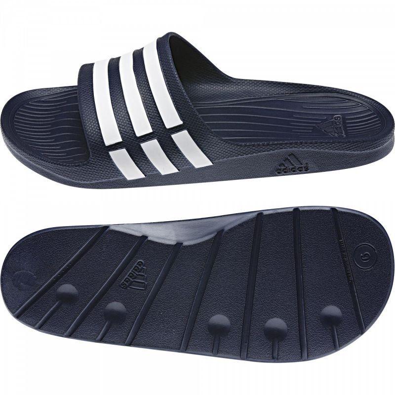 Altoparlante di spessore Posizionare  Klapki adidas Duramo Slide G15892 | Slide sandals, Black sandals, Pool shoes
