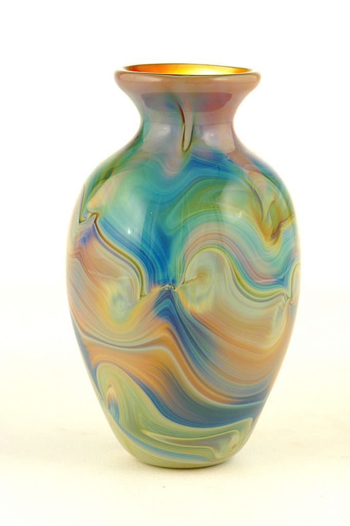 Glass Vase Blown Glass Glass And Glass Art