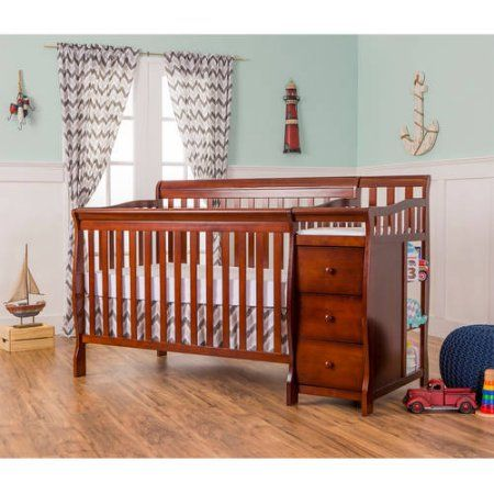 Dream On Me, 5-in-1 Brody Convertible Crib With Changer, Espresso ...