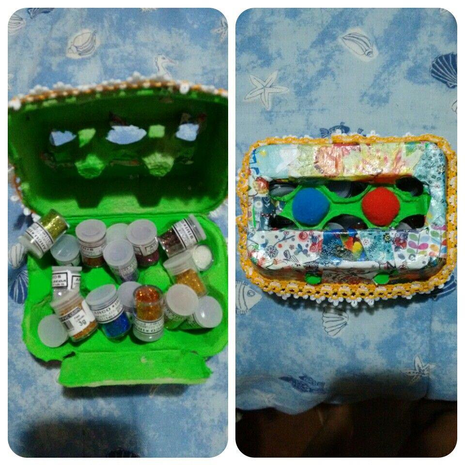 Caixa de ovos/ porta gliter