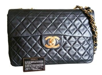 Chanel Jumbo Classic Quilted Lamb Skin Double Chain Shoulder Bag. Get one of the hottest styles of the season! The Chanel Jumbo Classic Quilted Lamb Skin Double Chain Shoulder Bag is a top 10 member favorite on Tradesy. Save on yours before they're sold out!
