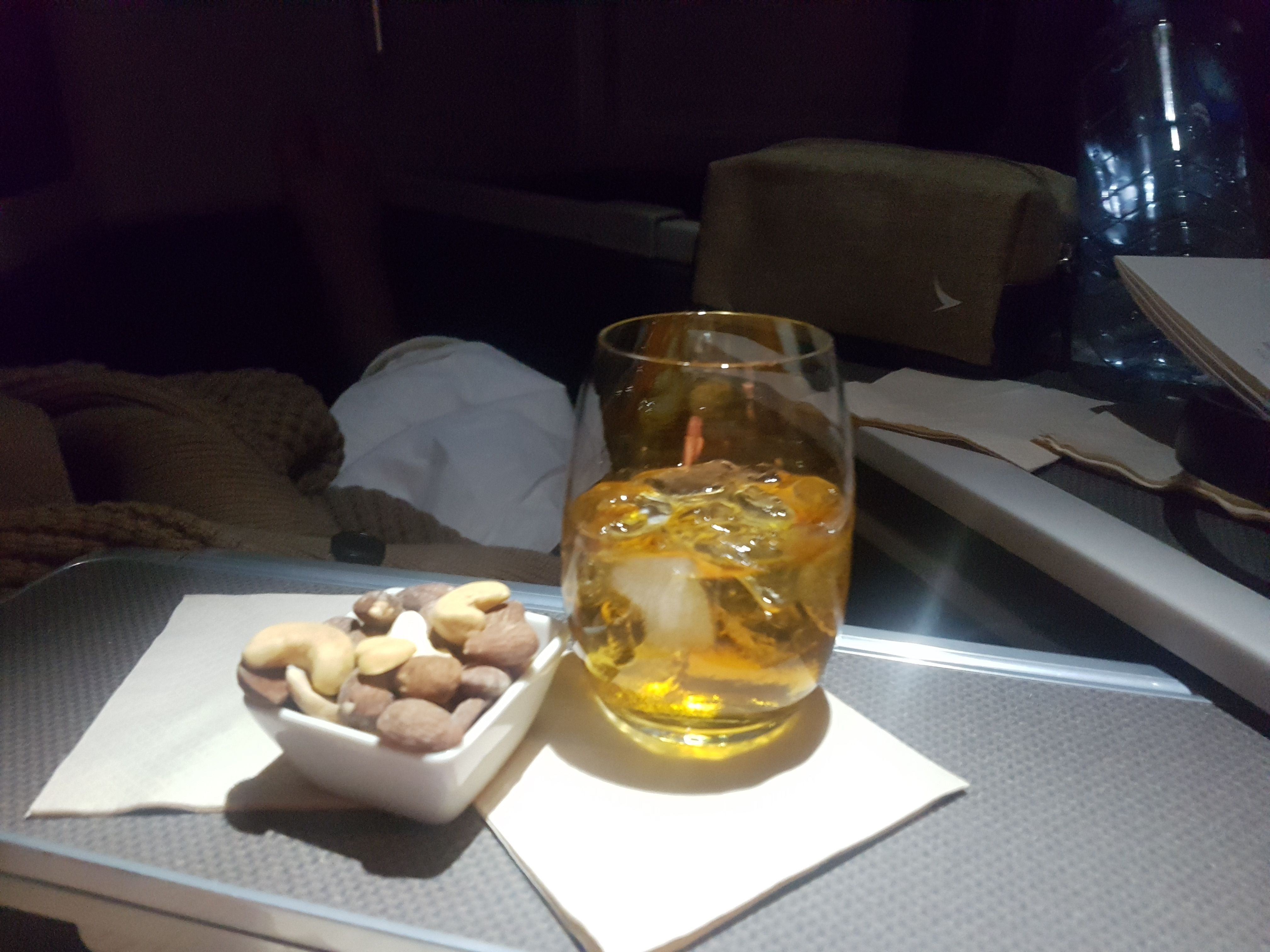 Had a great time on board Cathay Pacific business class