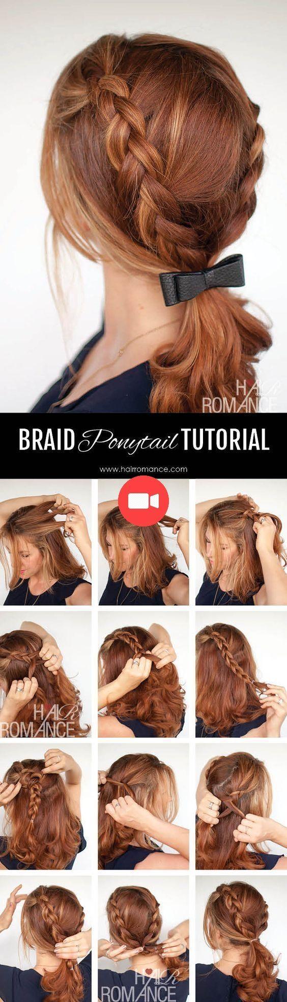 Tresse cheveux courts avec frange : 15 façons dobtenir vos lobs (idées de coiffure Bob Long
