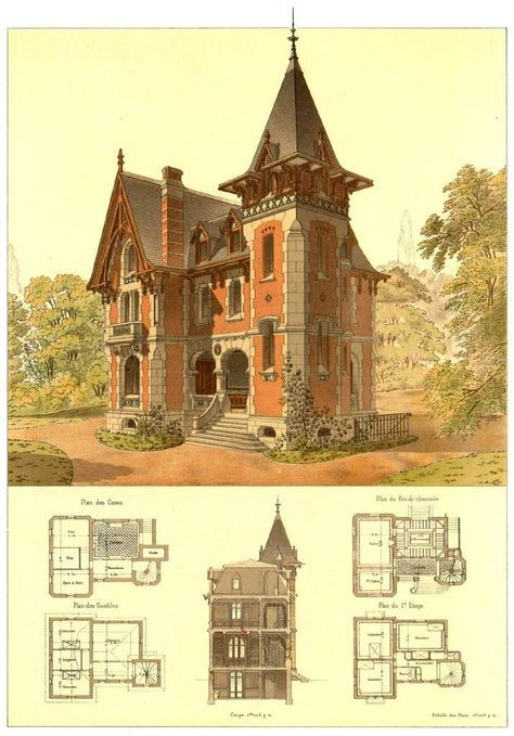 Details Of Victorian Architecture You Never Really Get To See Floor Plans Of T Migno Decor Victorian House Plans Gothic House Victorian Architecture