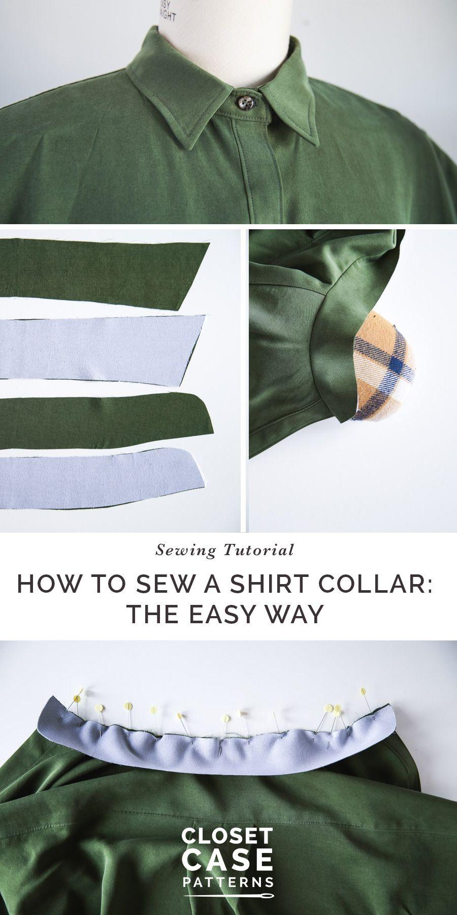 An Alternative Method for Sewing A Shirt Collar // Kalle Sewalong ...