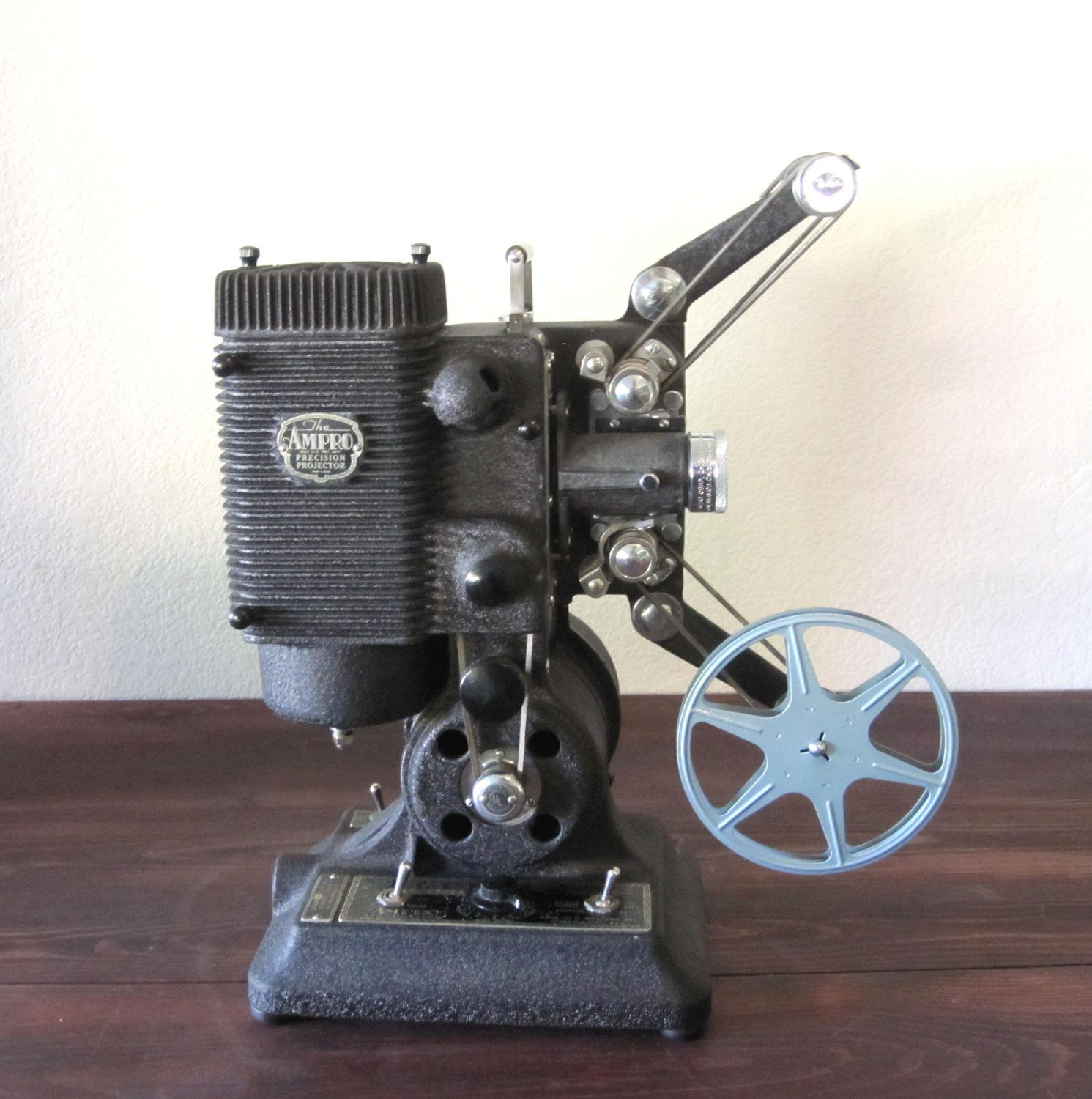 Vintage 1940s Ampro Precision 8mm Film Projector With Case