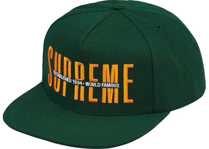 adf8b14b8fe Supreme Global FW18 Dark Green 5 Panel snapback hat cap (one size) NWT In