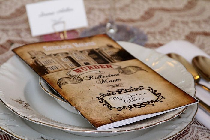 Murder Mystery Dinner Party Ideas Part - 19: Character Booklet From A Sherlock Holmes Murder Mystery Party On Karau0027s Party  Ideas | KarasPartyIdeas.
