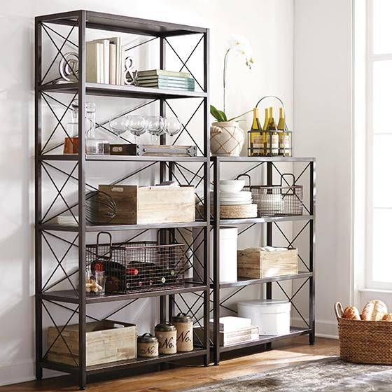 Ryan Metal Bookcase | homedecorators.com | $349.00 - Ryan Metal Bookcase Homedecorators.com $349.00 For The Home