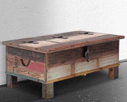 Truhe 107x60 Rest Of Best Teak Massiv Holz M 246 Bel Box