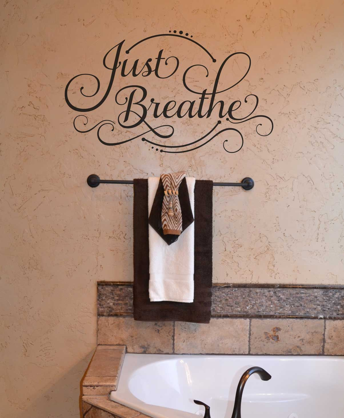 Just breathe kw custom vinyl lettering wall words stickers home