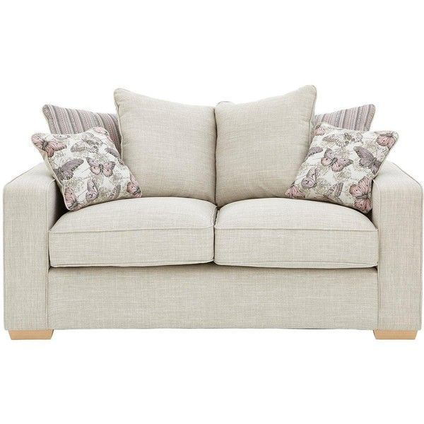 Sarina 2 Seater Fabric Sofa 720 Liked On Polyvore Featuring