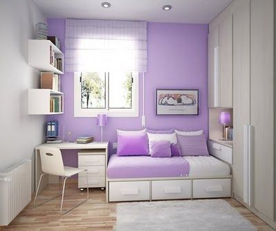 Great Use Of Space Bedroom Interior Small Room Girl Purple Bedroom Design