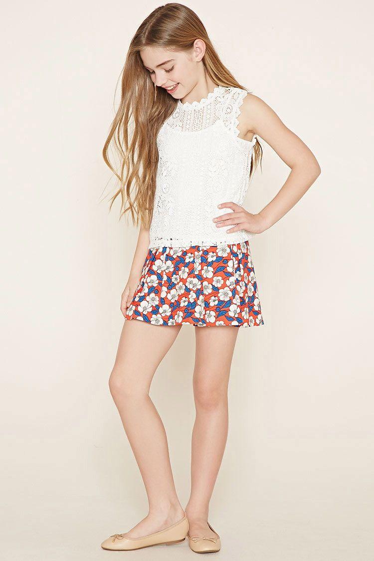 Girls Floral Skirt (Kids) | forever 21