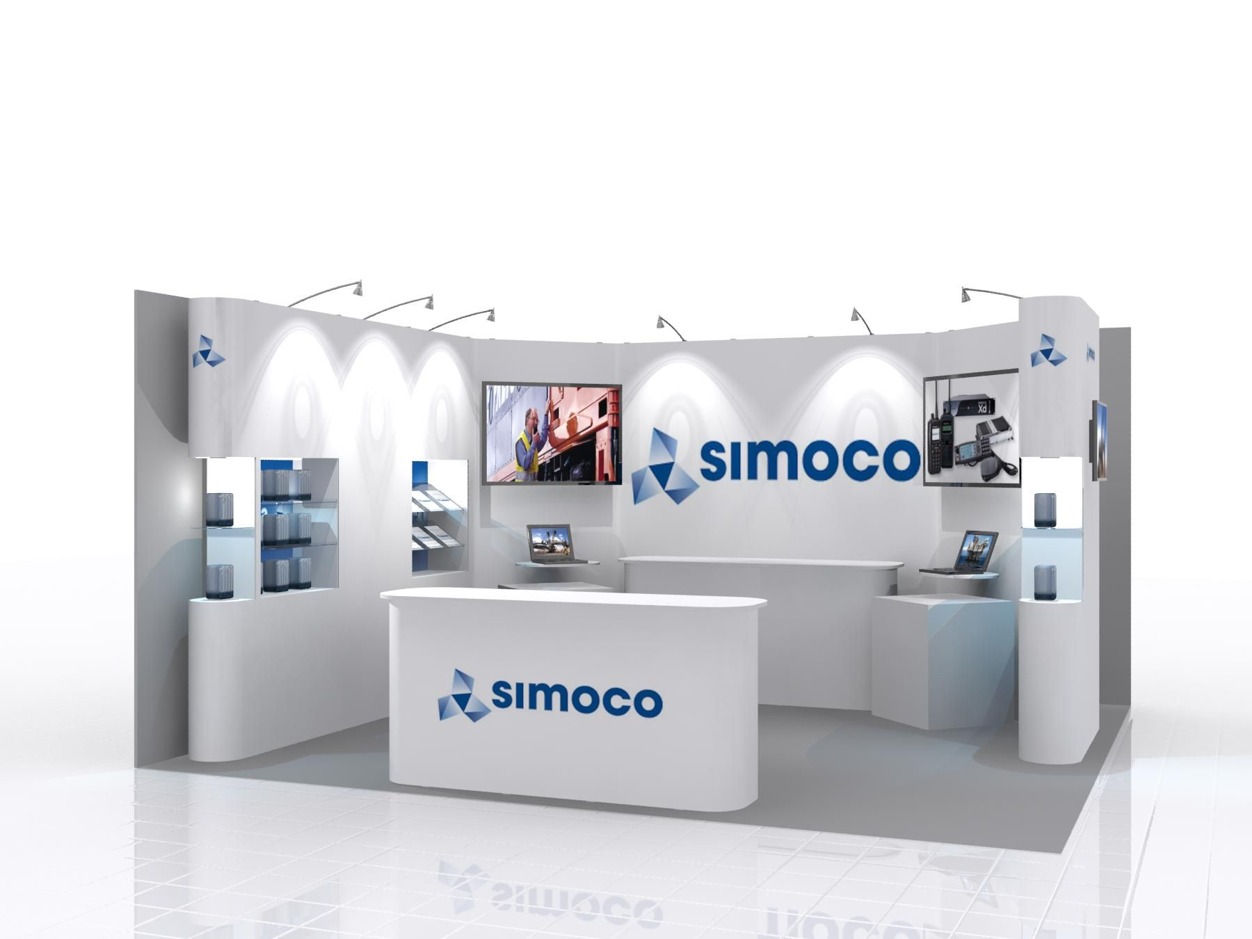 Simple Exhibition Stand Out : This simplistic design displays how the prestige system