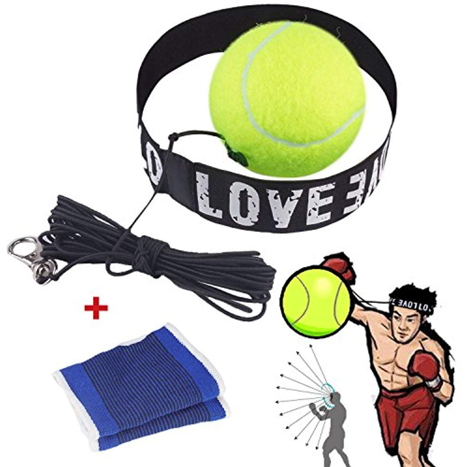 Boxing Reflex Ball, Boxing Fight Ball with Headband for