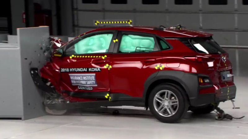 2018 Hyundai Kona Falls Short Of Insurance Institute S Top Safety