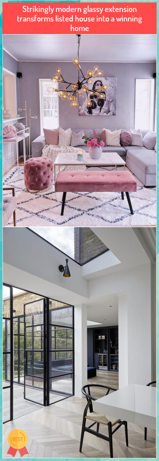 Strikingly modern glassy extension transforms listed house into a winning home #Strikingly #modern #glassy #extension #transforms #listed #house #into #winning #home