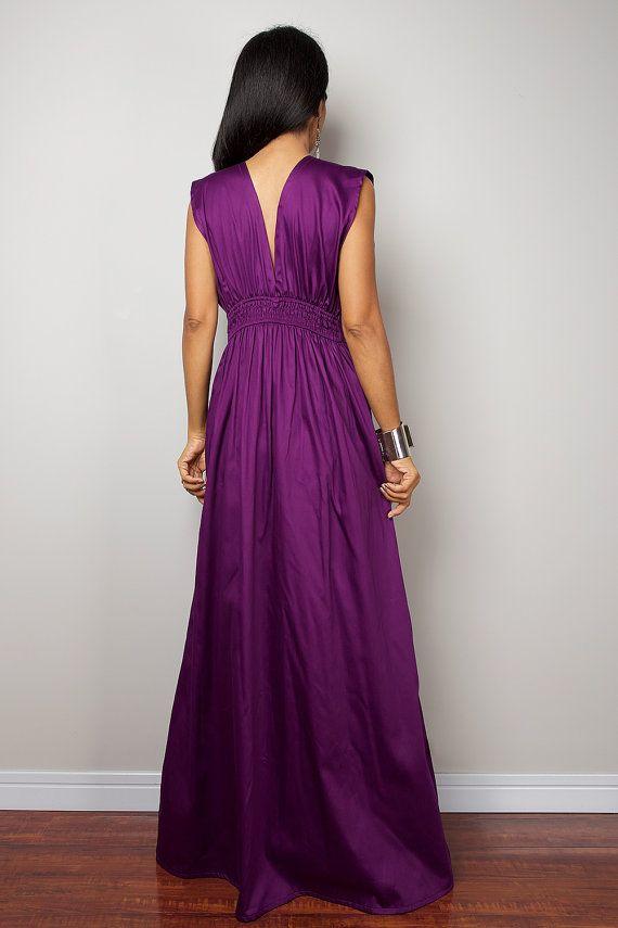 Púrpura Vestido de Maxi vestido largo Formal púrpura: por Nuichan ...