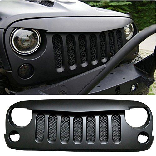 Fuway 2015 Latest Black Front Grill Mesh Grille Insert Kit Angry