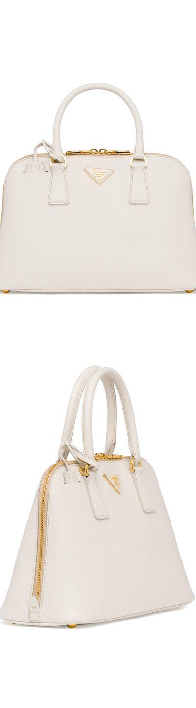 Prada Medium Saffiano Promenade Bag,White (Talco)
